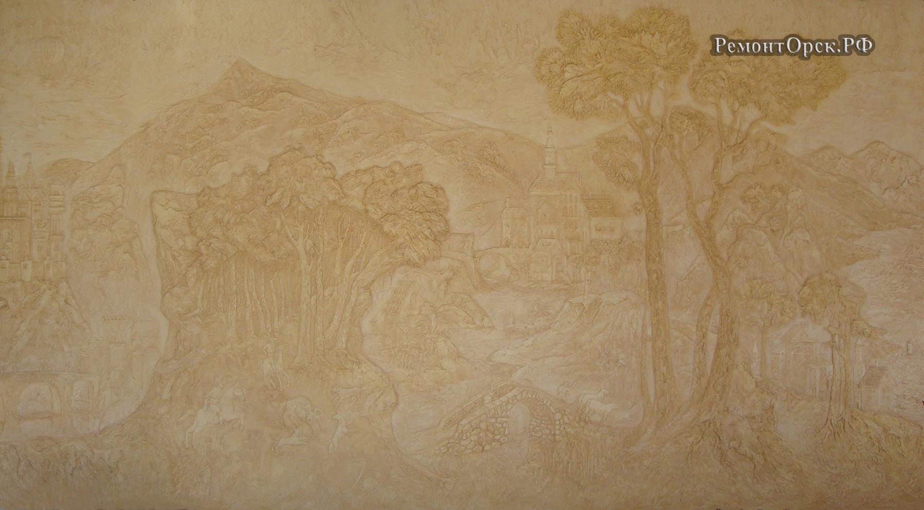 художественная роспись лепнины п. Кувандык
