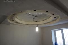 ГКЛ потолок фигурный