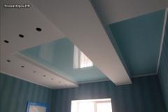 красивый потолок ремонт кухни