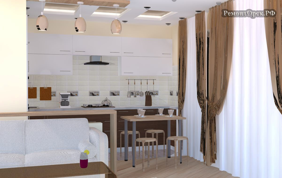 дизайн кухни в частном доме фото