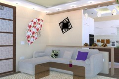 дизайн интерьера гостиной совмещенной