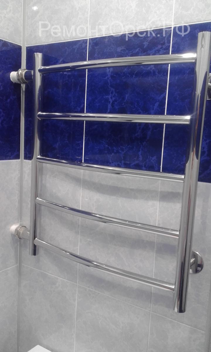 полотенцесушитель в ванной монтаж
