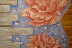 розы барельефы