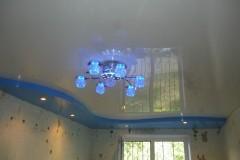 монтаж люстры + натяжной потолок