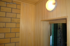 отделка бани доской внутри