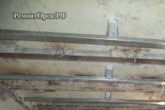 сборка каркас профиля потолок