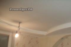 Потолок стены ГКЛ в комнате