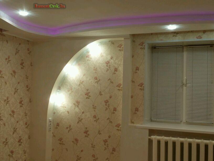 гипсокартон стены потолок ремонт комнаты