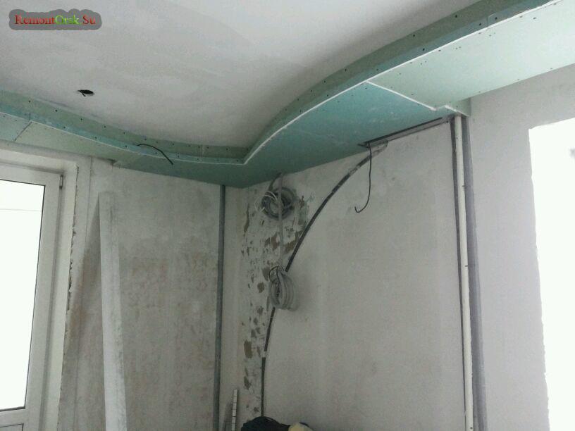 ГКЛ сборка потолок стены Арка