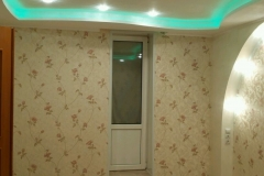 потолок из гипсокартона 2х уровневый с подсветкой