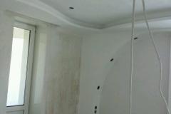сборка потолок стены из гипсокартона в комнате