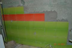 кафель на стены клеить