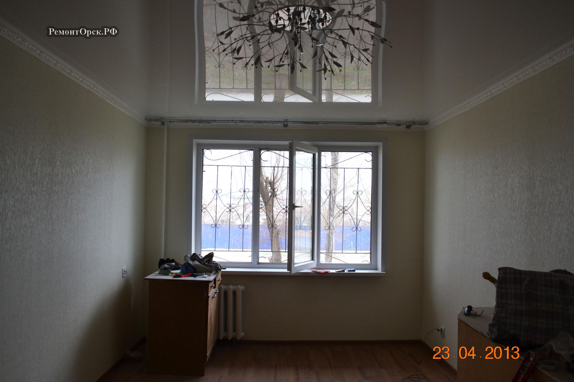 квартира ремонт натяжной потолок