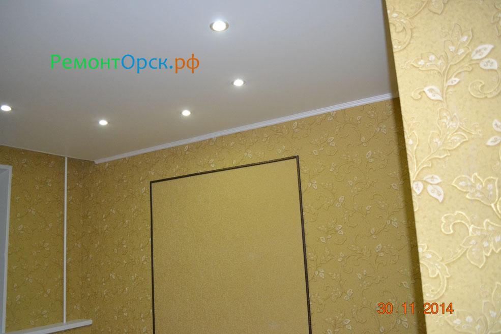 сборка потолок ГКЛ с подсветкой