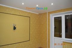 монтаж потолок из гипсокартона с точечными светильниками