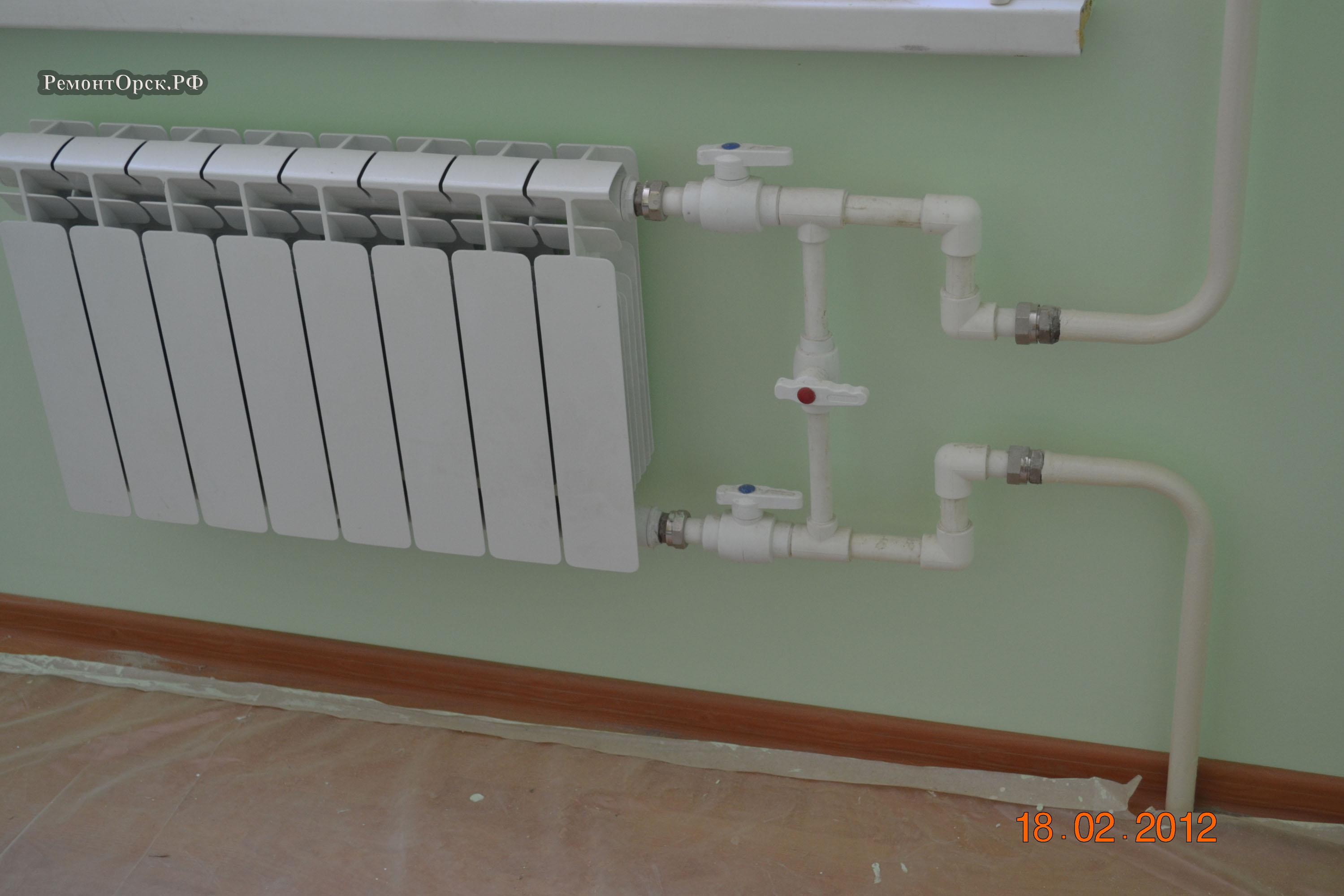 монтаж отопление в квартире
