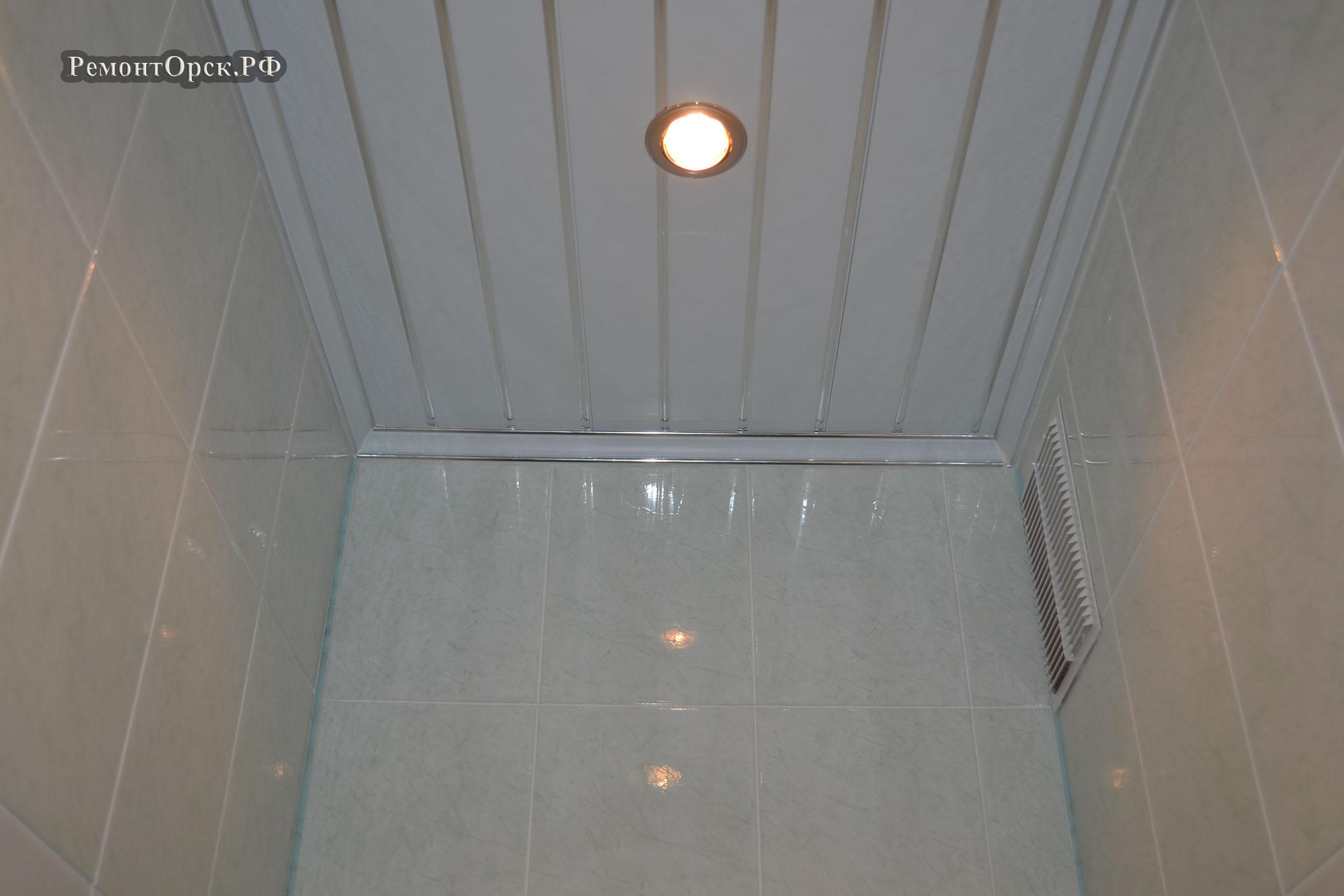 потолок пластик монтаж в Орске