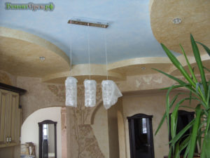 Декоративная отделка стен потолков