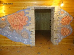 Розы барельеф, объемная картина